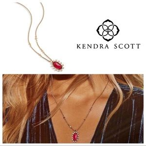 Kendra Scott Brett Berry/Brass Pendant Necklace